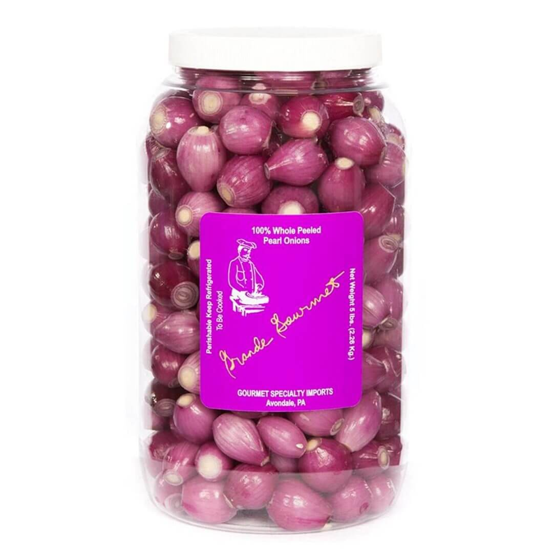 Gourmet Specialty Imports, Your Specialty Onion Source, Grande Gourmet, Peeled Red Pearl Onions